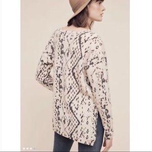 Monogram cashmere blend geometric black sweater